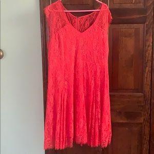 Torrid Coral Skater Dress - 2 (XXL)